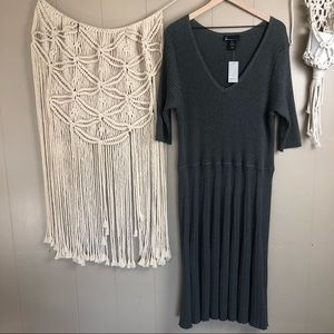 NWT lane Bryant fit and flare ribbed knit dress 26